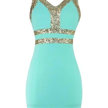 Sequin Bodycon Dress - Kely Clothing
