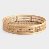 Round Natural Bamboo Tray