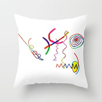 Funky Way Doodle Throw Pillow by Azima