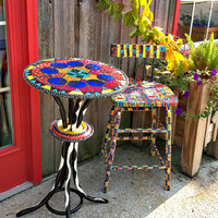 Functional Art Garden Set: Chair and Table