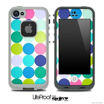 Vibrant Colored Polka Dot V2 Skin for the iPhone 5 or 4/4s LifeProof Case