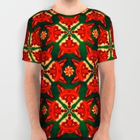 Fox Cross geometric pattern All Over Print Shirt by Chobopop