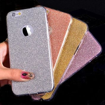 Ultra Thin Glitter Bling Cute Candy Cover For iPhone 6 Case Crystal Soft Gel TPU Phone Cases For iPhone6 6S 6 Plus 6SPlus Case