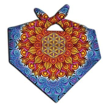 Flower Of Life Sacred Geometry Printed Bandana