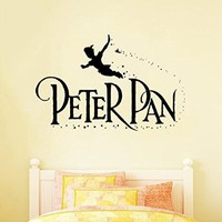 Wall Decal Vinyl Sticker Peter Pan Flying Stars Cartoon Fairytale Nursery V194