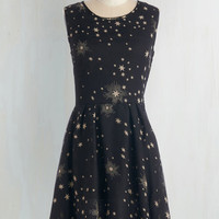 Mid-length Sleeveless A-line Illumination Sensation Dress