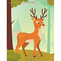 Storytelling Draw and Write Journal: Forest Deer Primary Composition Notebook/Jo
