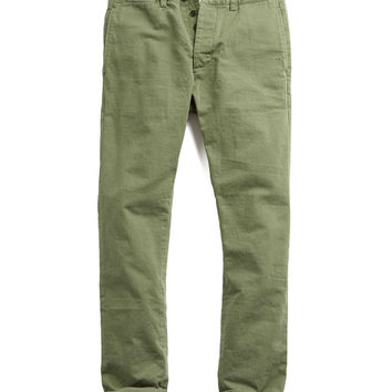 Todd Snyder Japanese Selvedge Chino Officer Pant in Olive