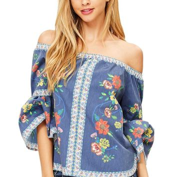 Morning Bloom Off Shoulder Blouse