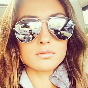 Silver or Gold Frame Womens Aviator Sunglasses in 17 Colors
