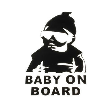 Baby On Board Auto Truck Stickers Window Vinyl Decal Car Funny Sticker