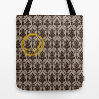 Sherlock Wallpaper Tote Bag by Katikut