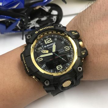KUYOU C010 Casio G Shock GWG-1000 Plastic Straap Fashion Electronic Watches Black Gold