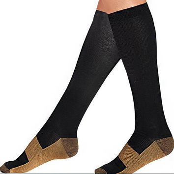 compression COPPER  socks UNISEX Casual Hot Thigh High Cotton Socks Women's Over Knee \
