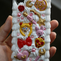 READY TO SHIP- Sailor Moon whipped cream decoden case iPhone4/4s