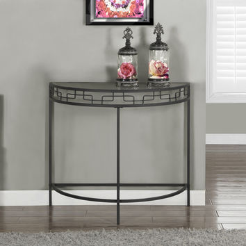 "Accent Table - 36""L - Charcoal Grey Metal Hall Console"
