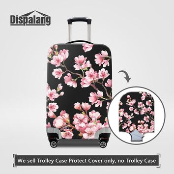 Dispalang Rain Dust Cover For 18-30 Inch Trolley Suitcase Cute Floral Printing Waterproof Elastic Women Luggage Protector Covers
