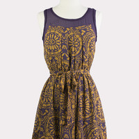 Plum & Honey Pleated Dress