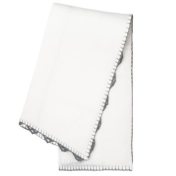 Set of Grey Anatolia Table Linens