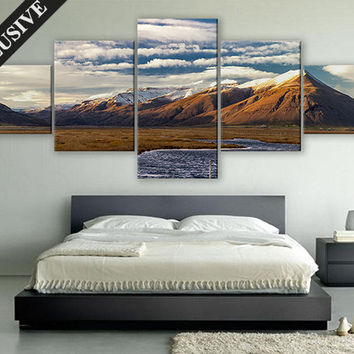 Extra Large Wall Art Nature Fine Art Canvas Wall Decor Modern Wall Hanging Fine Art Print on Canvas Mountains Wall Art Poster for Room Décor