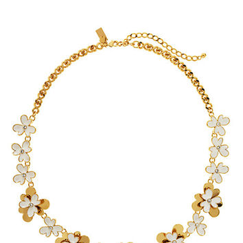 Kate Spade Pansy Blossoms Necklace White ONE