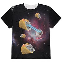 Taco Galaxy Cat All Over Youth T Shirt