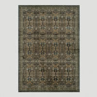 Light Blue Stained Glass Rug - World Market
