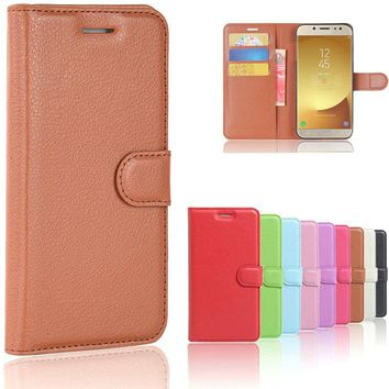 For Samsung Galaxy J7 2017 Case Cover J730 Leather Flip Case For Samsung Galaxy J7 2017 Cover For Samsung J7 2017 Case