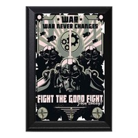 Fight The Good Fight! Brotherhood of Steel Fallout Geeky Wall Plaque Key Holder Hanger