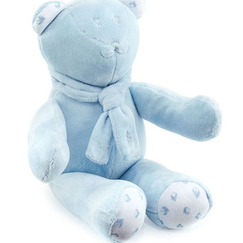 Plush Teddy Bear w/ Alphabet Print, Blue - Ralph Lauren Childrenswear