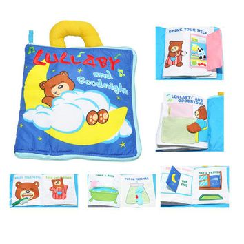 Soft Cloth Baby Boys Girls Books Rustle Sound Infant Educational Stroller Rattle Toys For Newborn Baby 0-12 month