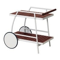 VINDALSÖ Trolley, outdoor White/brown stained 81x51 cm - IKEA