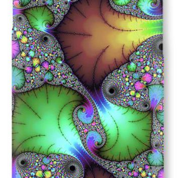 Floral Abstract Fractal Art Green Gold Brown Purple IPhone 7 Case