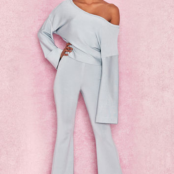 Clothing : Leggings : 'Inna' Pale Blue Lightweight Bandage Trousers
