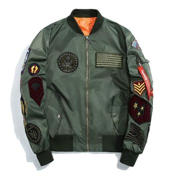 Trendy MORUANCLE Fashion Mens Hip Hop Varsity Letterman Baseball Jacket Streetwear Flight Bomber Jackets With Patches Plus Size M-5XL AT_94_13
