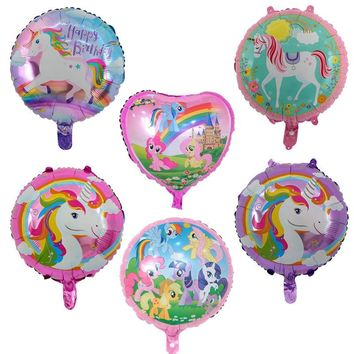 10pcs/lot 18 inch Unicorn Balloon with Happy Birthday Letter Balloons Birthday Party Decorations for Kids Unicorn Party