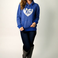 KC Glitter Hoodie XL, 2XL: Royal Blue