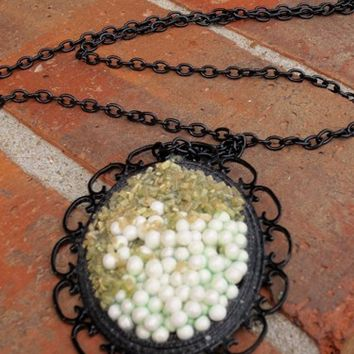 Sand and Snow Large Pendant Necklace
