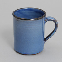 tender co - type 008 hand thrown coffee mug blue