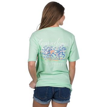 Life's A Breeze Tee in Green Ash by Lauren James