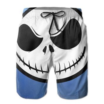 Jack Skellington Nightmare Before Christmas Mens Fashion Casual Beach Shorts