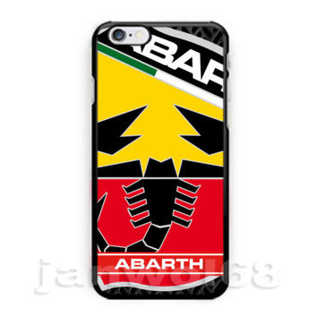 New Abarth Logo Racing Fiat Evo 500 For iPhone 6s 6s+ 7 7+ Print On Hard Case