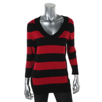 Style & Co. Womens Striped Long Sleeves Pullover Sweater