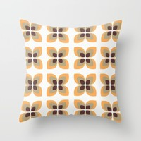 1970's Flowers Throw Pillow by Inspired Images