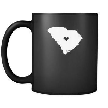 South Carolina Love South Carolina 11oz Black Mug