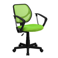 Mid-Back Green Mesh Task Chair & Computer Chair with Arms