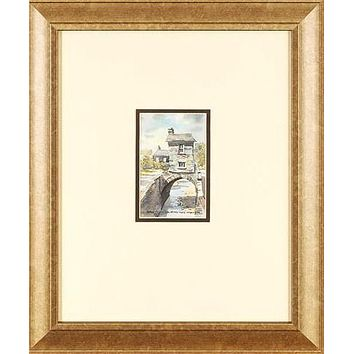 Bridge House, Ambleside - Original Watercolor Painting by Martin Goode (1932-2002)