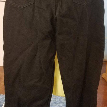 womens black jeans pants 35 x 27 size 18 L. L. Bean denim clothing