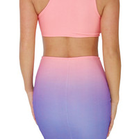Glee (Coral/Purple)-Great Glam is the web's best online shop for trendy club styles, fashionable party dresses and dress wear, super hot clubbing clothing, stylish going out shirts, partying clothes, super cute and sexy club fashions, halter and tube tops