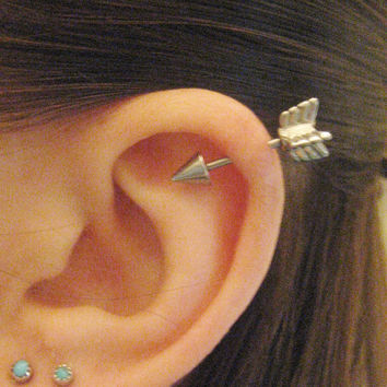 16 Gauge Arrow Helix Piercing Earring From Azeeta Designs